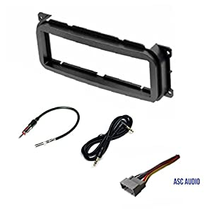 Single Din Car Stereo Dash Kit, Wire Harness, Antenna Adapter for some Dodge 02-07 Caravan, 02-04 Dakota, 02-03 Durango, 02-05 Intrepid, 02-06 Neon, 02-05 Ram 1500, 03-05 Ram 2500/3500, 02-06 Stratus