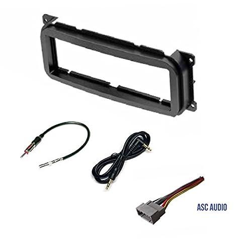 Single Din Car Stereo Dash Kit, Wire Harness, Antenna Adapter for some Dodge 02-07 Caravan, 02-04 Dakota, 02-03 Durango, 02-05 Intrepid, 02-06 Neon, 02-05 Ram 1500, 03-05 Ram 2500/3500, 02-06 (2004 Dodge Ram Audio)