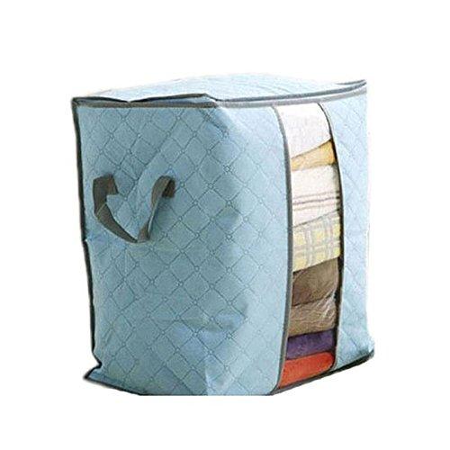 ストレージボックス、クリアランス。amydong Large衣類寝具布団Zip形式枕不織ストレージバッグボックス 45cm*45cm/18*18