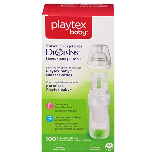 (Playtex Drop in Liners for Nurser Bottles, 8-10 Ounce, 500 Count)