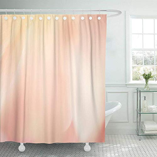 Pink Hat Hydrangea - Home&hat Shower Curtain Pink Sweet Color Rose and Hydrangeas in Blur Waterproof Polyester Fabric