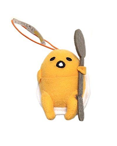 Sanrio Gudetama Lazy Egg Strap Plush Mascot ~ Gudetama with Spoon ~ Cutlery Series Type B -