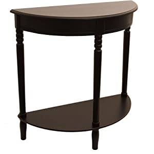 Bon Half Round Console Table (Eased Edge Black)