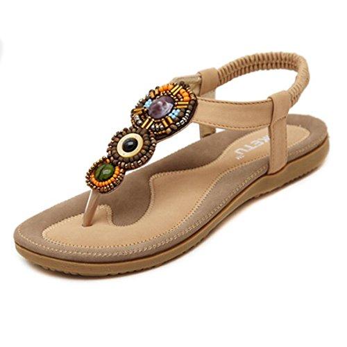 Ouneed® Damen süße wulstige Zeheebenen Bohemian Sandals Flip Flops ...