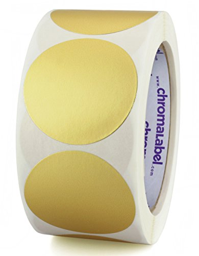 ChromaLabel 2 inch Color-Code Dot Labels | 500/Roll (Metallic (Foil Address Labels)