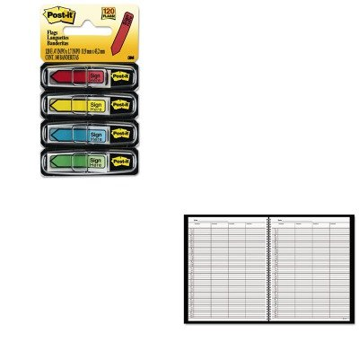 (KITAAG8031005MMM684SH - Value Kit - At-a-Glance Recycled Four-Person Group Undated Daily Appointment Book (AAG8031005) and Post-it Arrow Message 1/2amp;quot; Flags (MMM684SH))