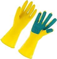 Scicalife Luvas de Lavar Louça Luvas de Látex Luvas de Limpeza Doméstico Esfregão para de Casa (1 Par Tamanho