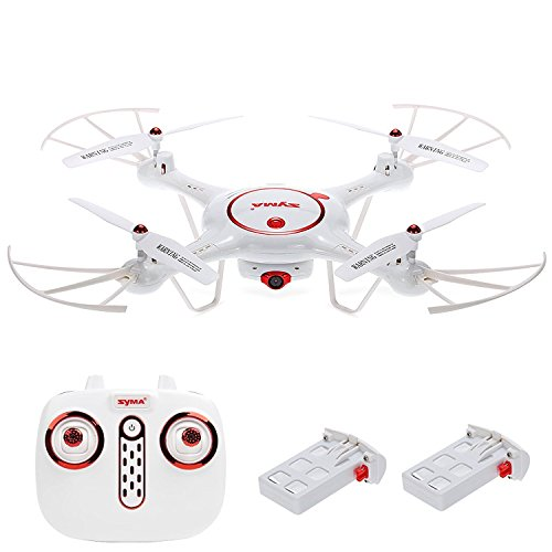 Syma X5UC RC Drone with HD Camera 2.4Ghz RC Quadcopter with Altitude Hold and One Key Take off and Landing, White