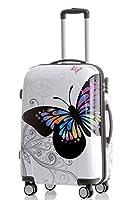 2060 Butterfly L 65cm Polycarbonat Hartschale Koffer Trolley Reisekoffer