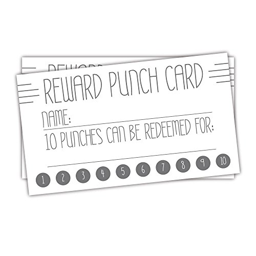 50 Deco Line Reward Punch Cards, Business Customer Loyalty Cards, Teacher Incentive Cards