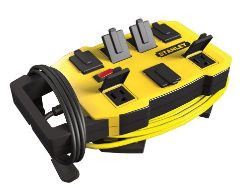 Stanley 32060 Outrigger Grounded 7-Outlet Wrap and Go Power - Nyc Stores Outlet