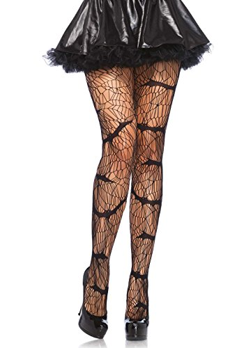 [Leg Avenue Women's Vampire Bat Pantyhose, Black, One Size] (Halloween Accessories)