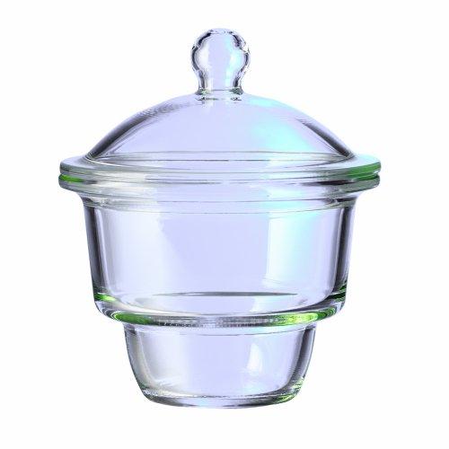 Corning Pyrex Borosilicate Glass Small Knob Complete Top Desiccator, 2.4L Capacity Desiccator Glass