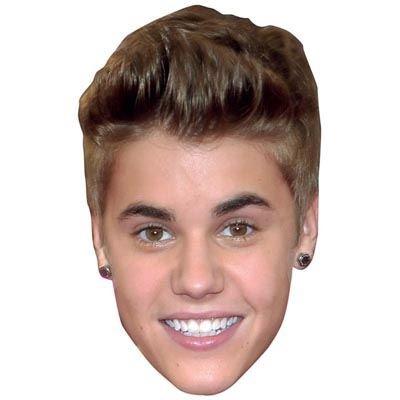 Justin Bieber Celebrity Mask, Cardboard Face and Fancy Dress Mask (Fancy Face Masks)