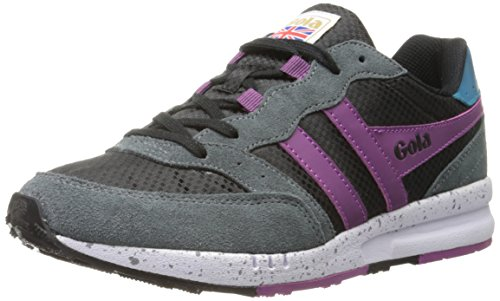 Gola Samurai, Scarpe da tennis Low-Top donna, Nero (Black/Graphite/Berry), 36