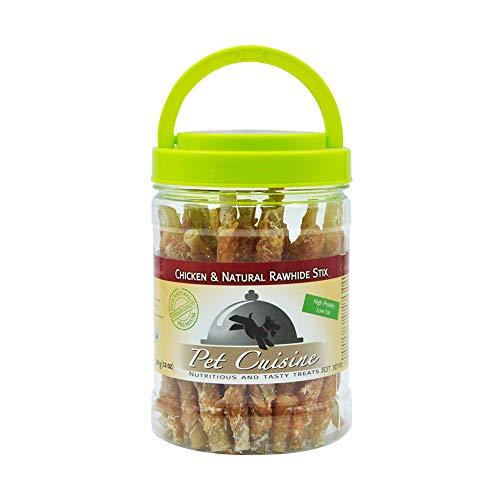 Pet Cuisine Dog Treats Puppy Chews Training Snacks,Chicken & Natural Rawhide Stix,12 oz (Best Rawhide Bones For Puppies)