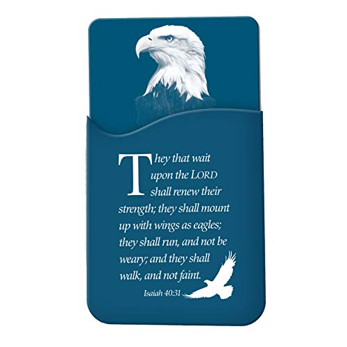 Christian Tools Affirmation Cell Phone Wallet-They That Wait Upon The Lord (Isaiah 40:31 KJV) (They That Wait Upon The Lord Kjv)