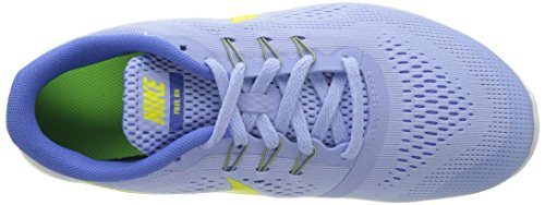 Nike Free Rn (Gs), Zapatillas de Deporte para Niñas Varios colores (Aluminium / Electrolime / Medium Blue / Off White)