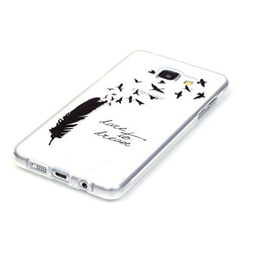 XiaoXiMi Funda de Silicona para Samsung Galaxy A5 2016 SM-A510F Carcasa Transparente Soft Silicone Cover Clear Case Funda Protectora Carcasa Blanda Caso Suave Flexible Caja Delgado Ligero Casco Anti R Los Pájaros que Vuelan
