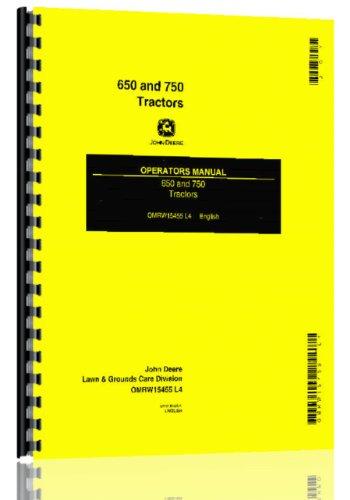 John Deere 650 750 Compact Diesel Utility Tractor Ops Manual