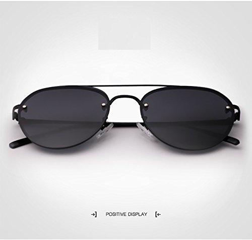 para Hombres Lady Hong Silver Mirror para polarizadas Hombre Sunglasses Sol Gafas Driving Black UV400 de Color H0qTt