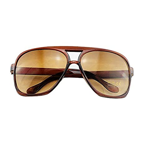 Denshine SunGlasses Mirror Colored Fashion Style Shades Hommes Femmes Classic Light Brown CsAZNkL