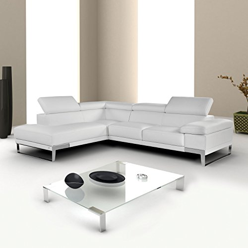 """Nicoletti"" Italian Leather Sectional Sofa with Left Chaise"