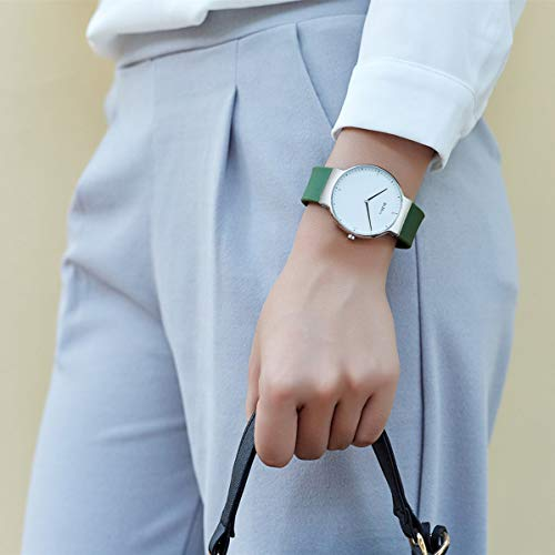 Womens Watches,Lady Simple Fashion Design Casual Business Dress Analogue Quartz Silicone Wrist Watch (Green) by ASWAN WATCH (Image #2)