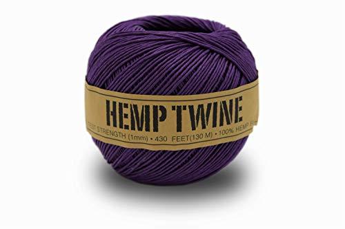 100% Hemp Twine Ball 1MM, 100G/430 Ft. - 20 lb. Test Strength - ()