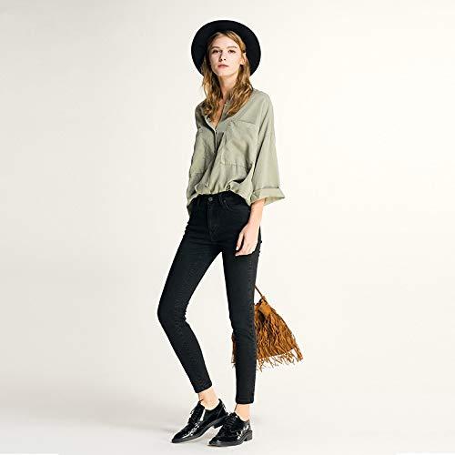 L weibliche Jeans elastische MVGUIHZPO Taille und europ und Gro Bleistifthosen handel ische Jeans Frauen niedrige Schwarze Femme dnne Hohe amerikanische HqZwzdOZ