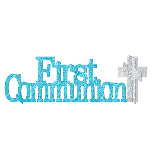 First Communion Blue Glitter Decoration Kit | Party -