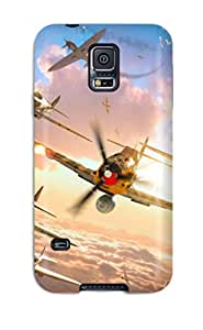 Durable Defender Case For Galaxy S5 Tpu Cover(world Of Warplanes Game)