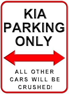 Designasign Kia Parking Only 15 X 20 Cms Kleiner Metall Wand Schild Küche Haushalt