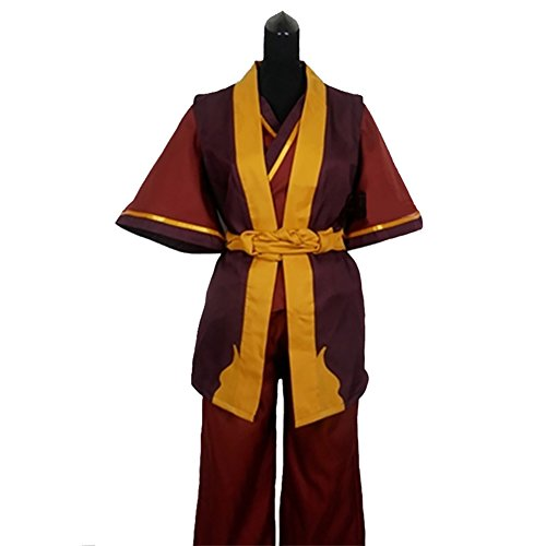 Avatar The Last Airbender Halloween Costumes For Adults - Zuko Costume Deluxe Red Wine Polyester CL Avatar Cosplay S