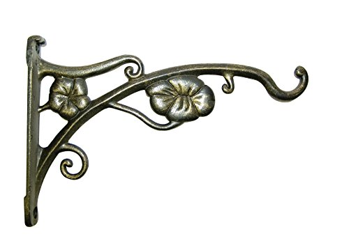 Panacea 85643 Flower Wall Bracket, Gold, 9-Inch - Panacea Plant Bracket