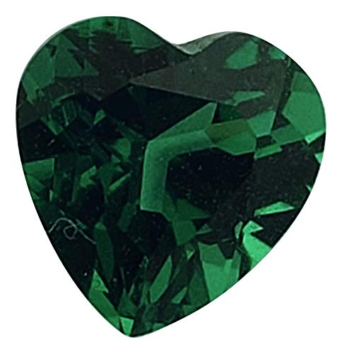 Jewels of NY Simulated Emerald Gemstone Heart-Shaped (Assorted Sizes) (6mm Heart)
