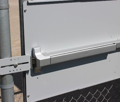 Lockey PS-SB Silver Panic Shield Strike Bracket Gate Catch Powder Coated