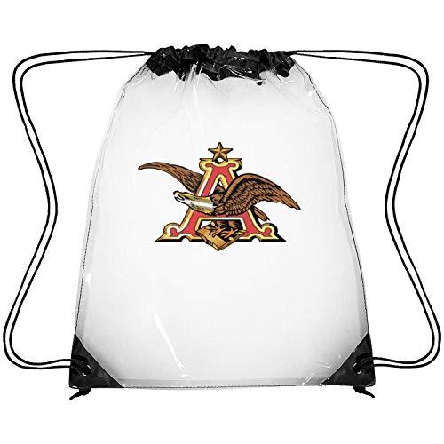 uter ewjrt Waterproof Anheuser-Busch-Beer-Sign- Clear Sport Bags Traveling Drawstring Bag