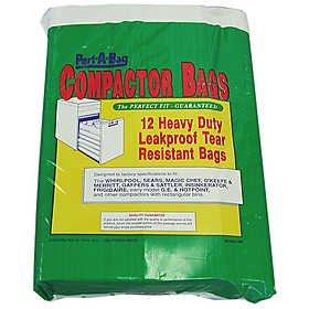 Port A Bag TRASH COMPACTOR BAGS 12ea Kraft Paper, Lined