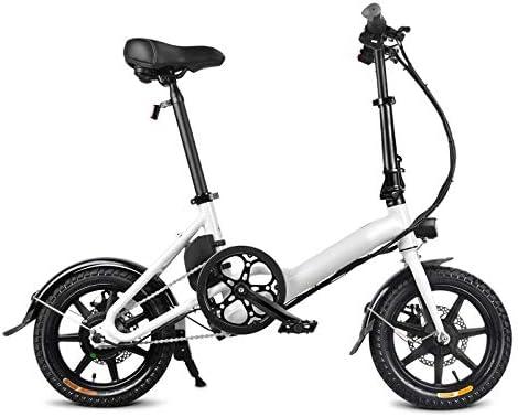 MJYT Folding Bike,1 Pcs Electric Folding Bike Foldable Bicycle Double Disc Brake Portable for Cycling: Amazon.es: Hogar