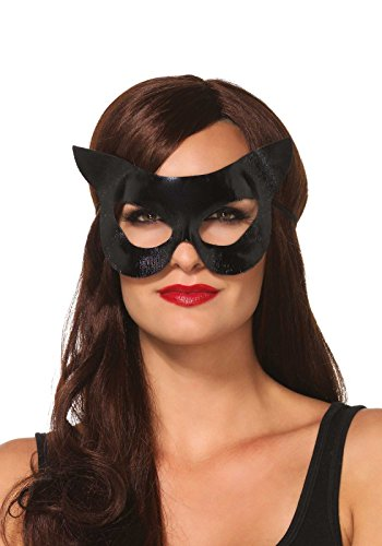 Leg Avenue Women's Vinyl Cat Mask Costume Accessory, Black, One Size -