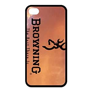 Treasure Design Browning Case TPU Case Skin for Apple iphone 4/4s Case Cover New Style by icecream design