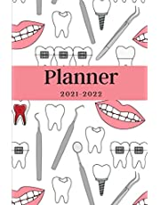 Planner 2021-2022: Agenda for Dental Students, Dentists, Weekly and Monthly Planner, Calendar 21-22, Christmas New Years Gift for Dental Hygienists