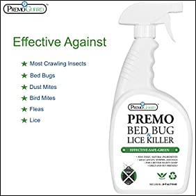 BED BUG, LICE & MITE KILLER SPRAY ? 24 oz ? Natural Non Toxic ? Child & Pet Friendly ? Fast Acting ? Stain & Odor Free ? Best Extended Protection ? Industry Approved ? Satisfaction Guarantee