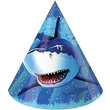 8-Count Birthday Party Hats, Shark Splash