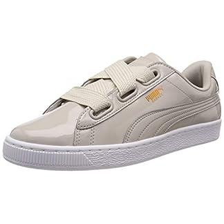 Puma Basket Heart Patent Wn's, Damen Sneakers, Grau (Silver Gray-Silver Gray), 37 EU 10
