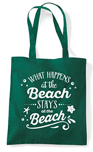 The Shopper Stays Happens At Tote Statement Bag Green Beach What Dark wqEgS8q