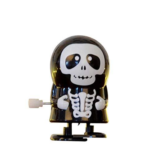 Wenjuan Halloween Clockwork Gift Wind up Bounce Skeleton Vampire Zombie Props Toy Jumping Scary Ghost Monster (C) ()
