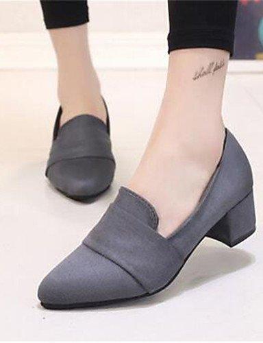 Black Eu36 Travail Ggx Habillé Chaussures synthétique amp; gros us6 Gris Femme talons Uk4 Talon talons bureau Cn36 noir Rose qwafwF6