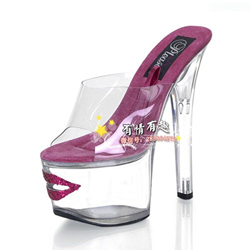 high 15 cm crystal heels schuhe lippen transparenz schuhe volle modell violett rote 1zO8q0Y